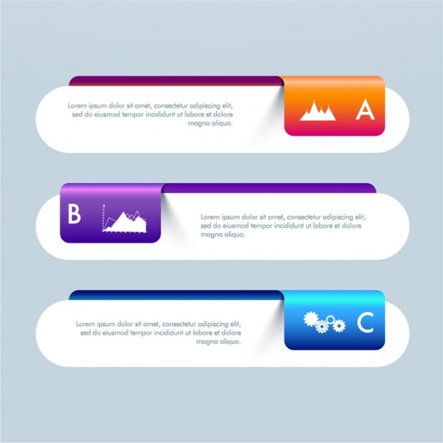 Geometric infographic banners for business Premium Vector