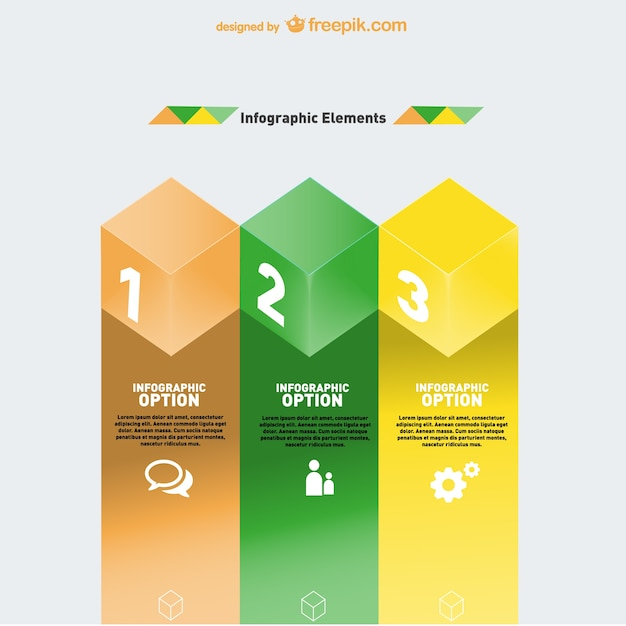 Geometric infographic elements design Free Vector