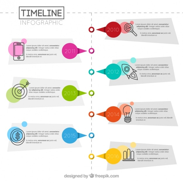 Geometric infographic of timeline Free Vector