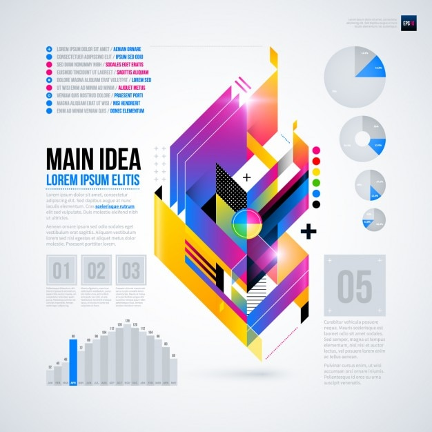 Geometric infographic with pie chart and bar graphic vector free geometric infographic with pie chart and bar graphic free vector gumiabroncs Gallery
