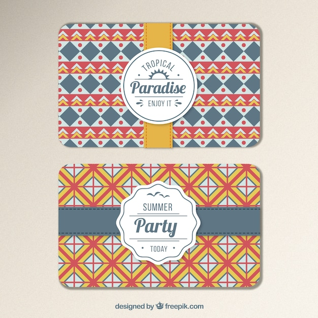 Geometric invitation card for summer party vector free download geometric invitation card for summer party free vector stopboris Choice Image