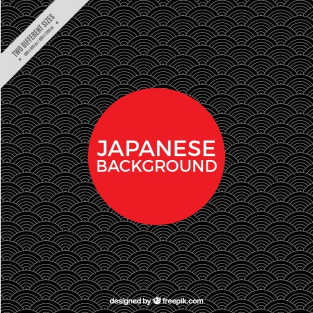 Geometric japanese background Premium Vector