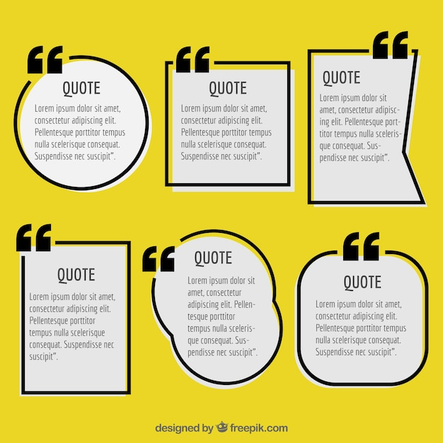 Geometric labels to write quotes Free Vector