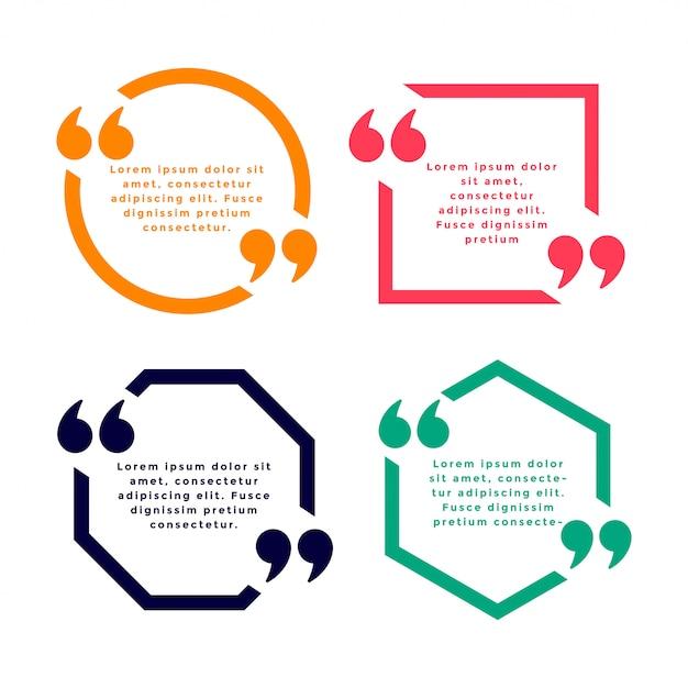 4色の幾何学的なラインスタイルの見積もりテンプレート 無料ベクター