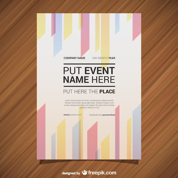 Geometric lines event poster Vector | Free Download