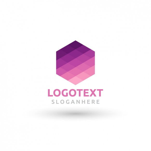 Geometric logo in hexagon shape Vector | Free Download
