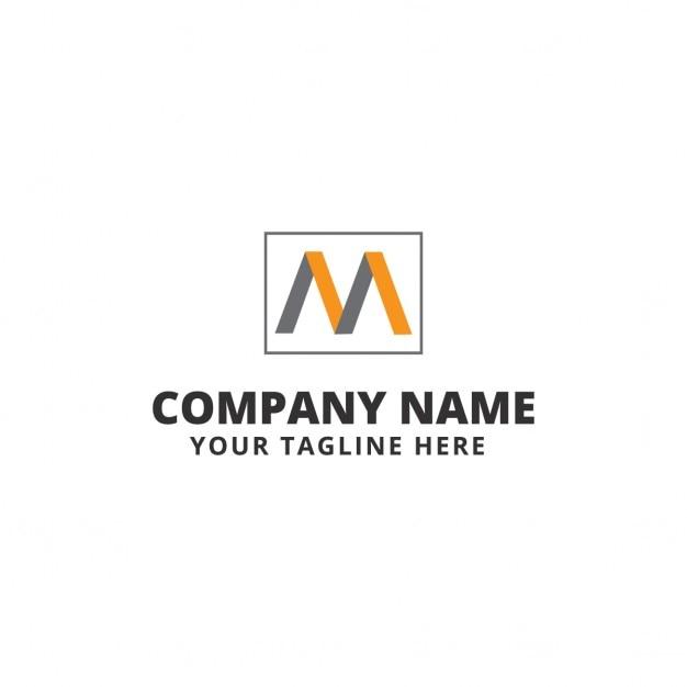 geometric logo letter m vector free download