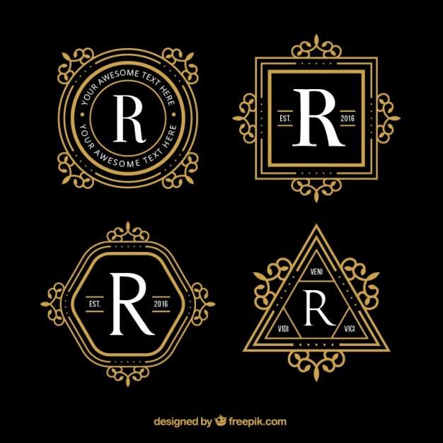 Geometric Luxury Logos Vector Free Download