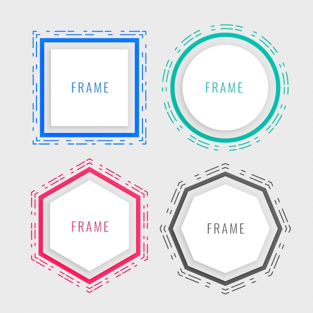 Geometric memphis style frame Free Vector