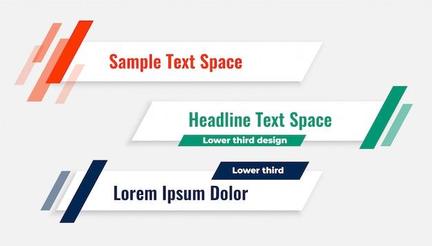 Geometric modern lower third banner template Free Vector