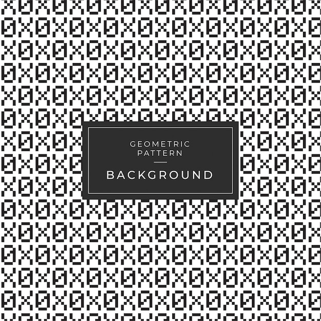 Geometric monochrome pattern  with numbers Premium Vector