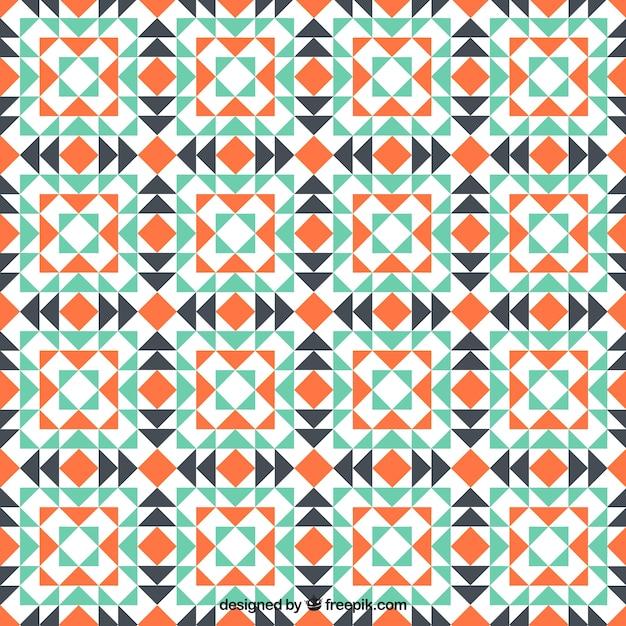 Geometric mosaic pattern Free Vector
