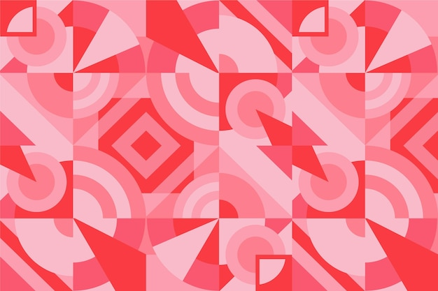 Geometric mural background Free Vector