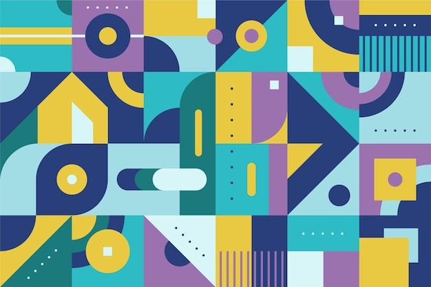 幾何学的な壁画の背景 無料ベクター