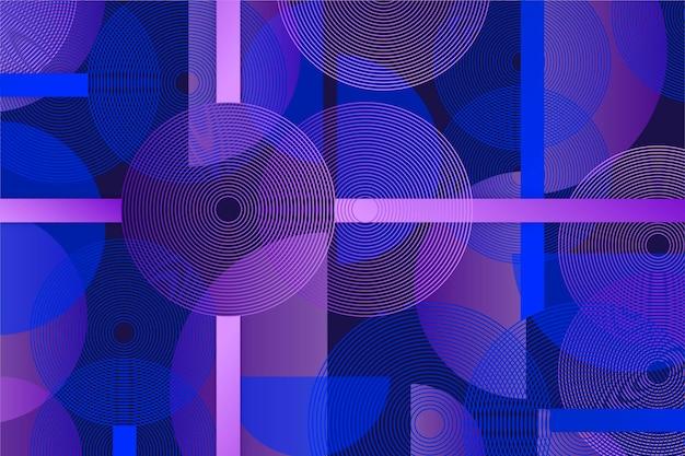 기하학적 벽화 벽지 개념 프리미엄 벡터