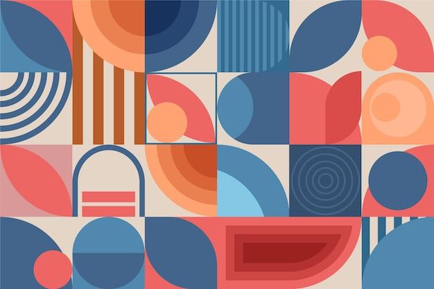 幾何学的な壁画の壁紙スタイル Premiumベクター