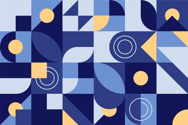 Geometric mural wallpaper Free Vector