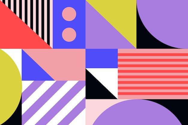 幾何学的な壁画の壁紙 Premiumベクター