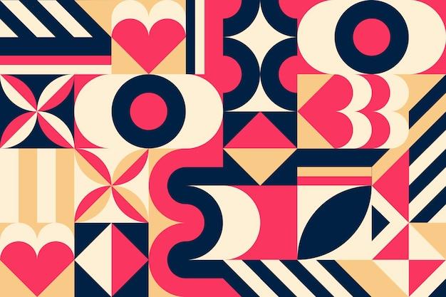 幾何学的な壁画の壁紙 無料ベクター