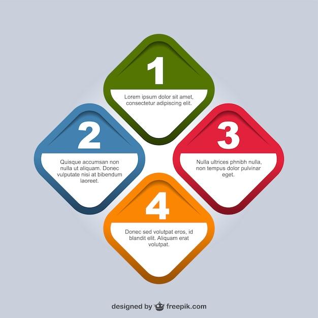 Geometric origami infographic simple design Vector | Free ...