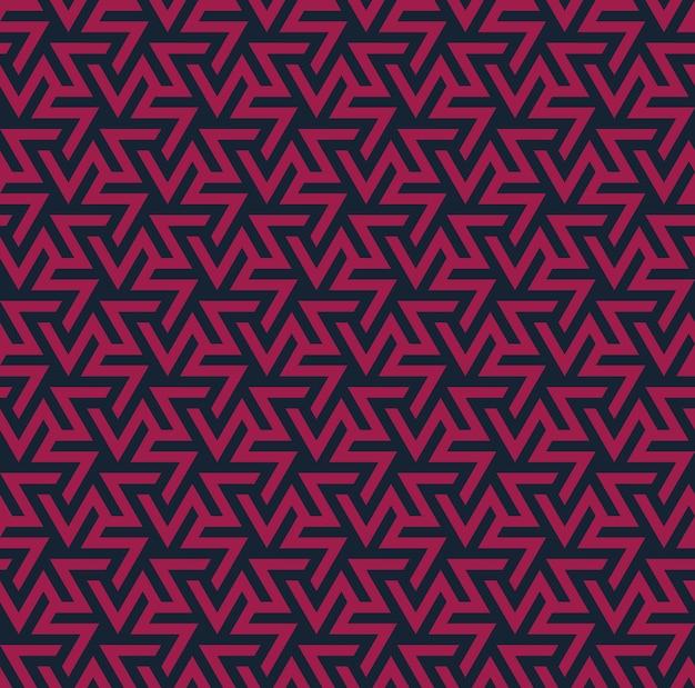 geometric ornament. Abstract seamless pattern Premium Vector
