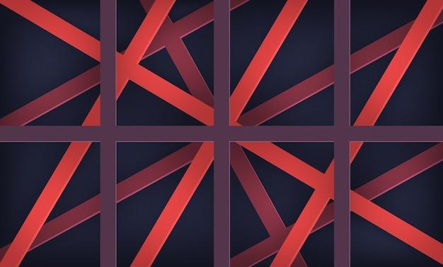 幾何学的な紙かわいい重複抽象的な背景 Premiumベクター