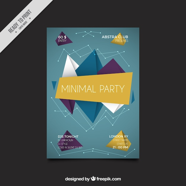 Geometric Party Brochure Template Vector  Free Download