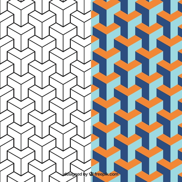 Geometric pattern in abstract style Premium Vector