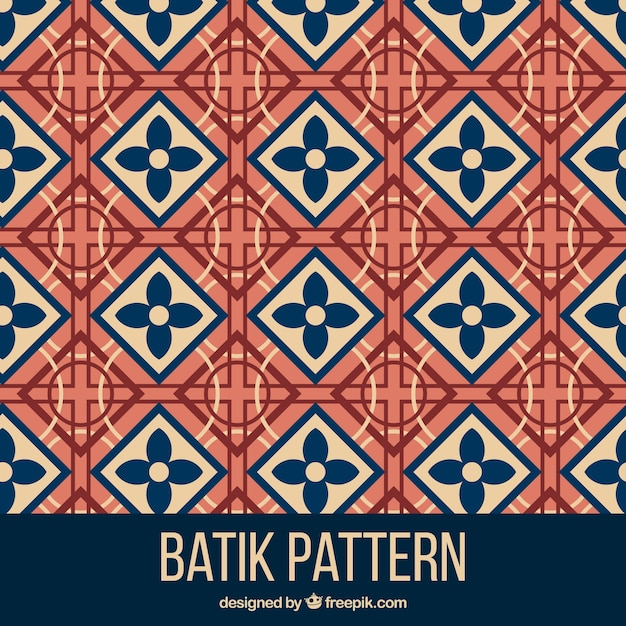Geometric Pattern In Batik Style