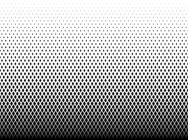 Geometric pattern of black diamonds Premium Vector