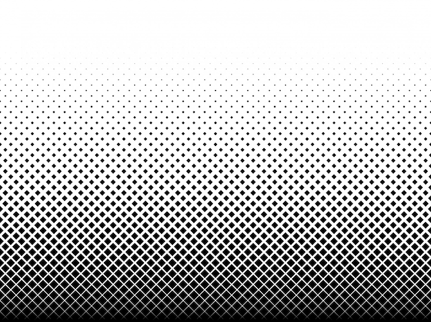 Geometric pattern of black squares on white Premium Vector