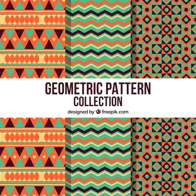 Geometric pattern collection with ethnic style