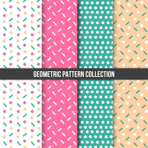 Geometric pattern collection Free Vector