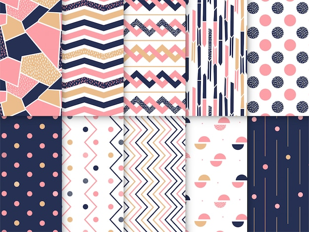 Geometric pattern collection Premium Vector