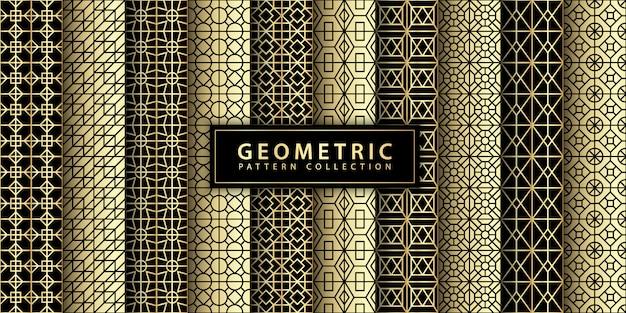 Geometric pattern collection Premium Vector