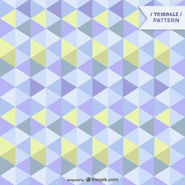 Geometric pattern in yellow and blue tones Free Vector