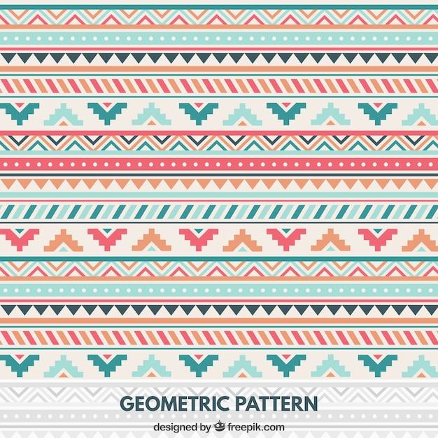 Geometric pattern in native style Premium Vector