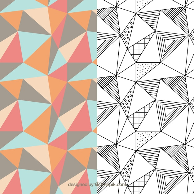 Geometric pattern pack Premium Vector