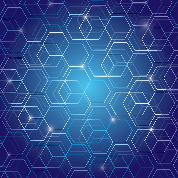 Geometric pattern technology background Premium Vector