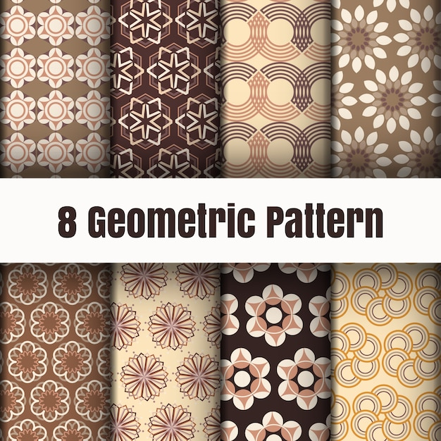 Geometric pattern wallpaper background surface textures Premium Vector