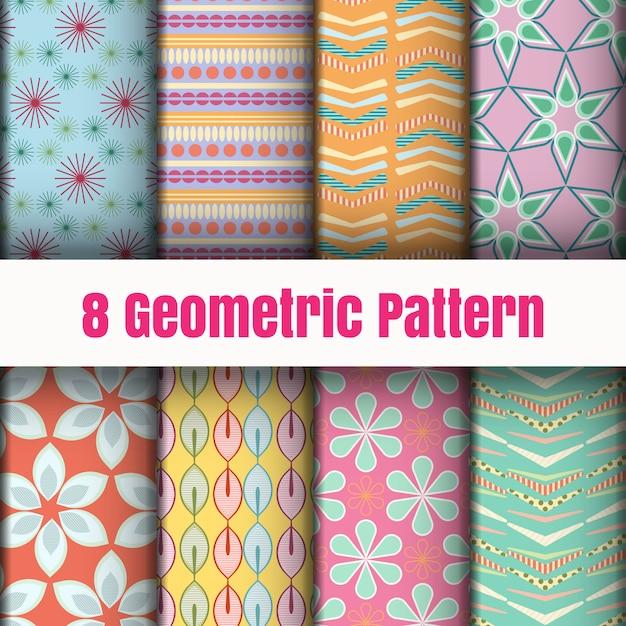 Geometric pattern wallpaper background surface textures Premium Vector