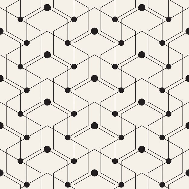 Geometric Pattern Custom Geometric Pattern With Lines And Dots Vector  Free Download Design Decoration