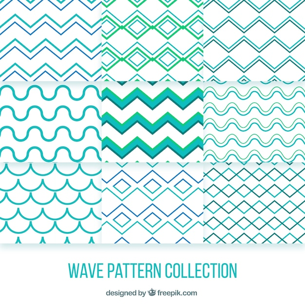 Geometric patterns of waves collection