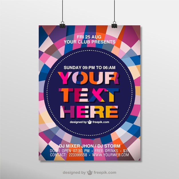 Geometric poster mock-up Free Vector