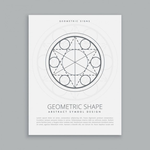 Geometric Poster Template Vector | Free Download