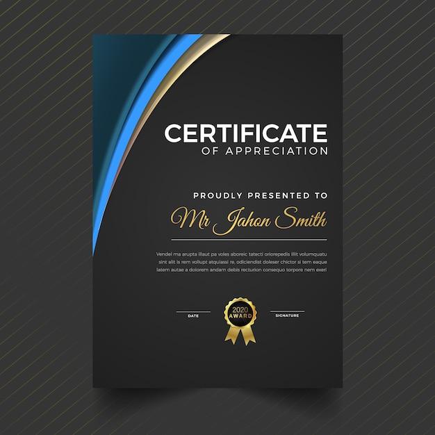 幾何学的なプレミアム多目的証明書の卒業証書テンプレート Premiumベクター