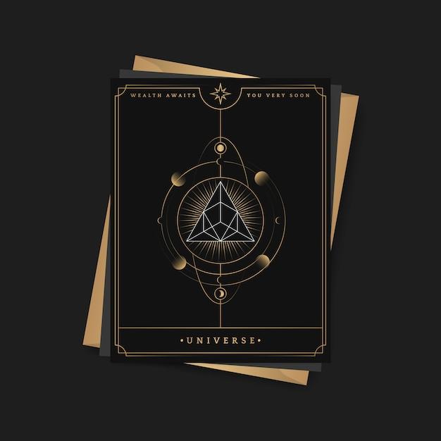 Геометрическая пирамида астрологическая карта таро Бесплатные векторы