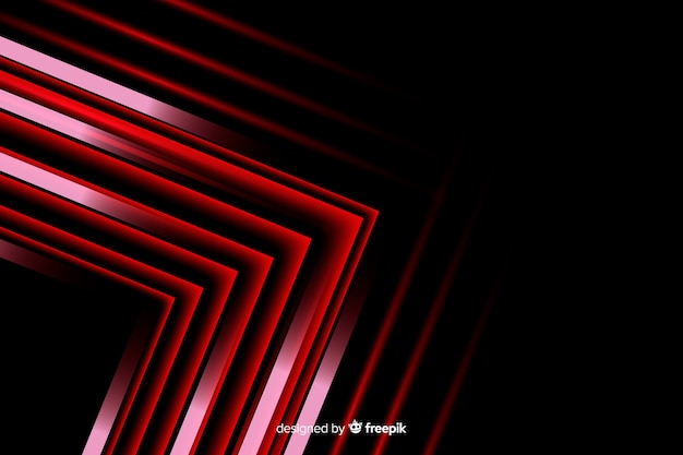 Geometric red arrow lights background Free Vector