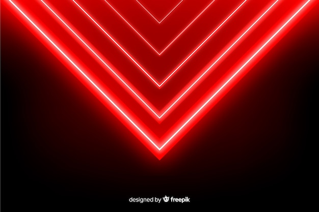 Geometric red lights background realistic style Free Vector