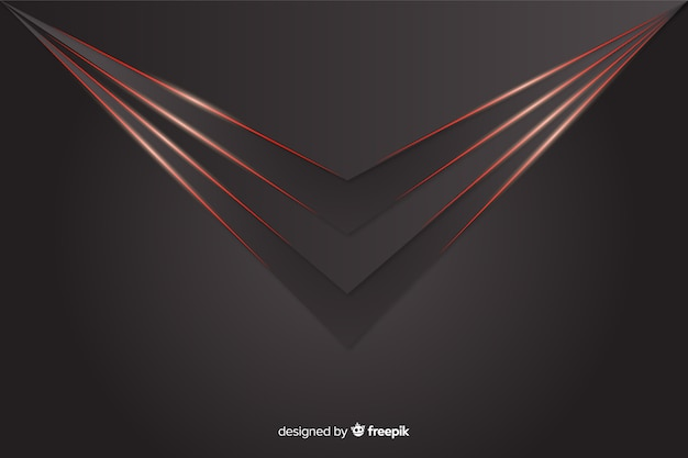 Geometric red lights on gray background Free Vector